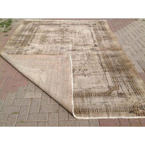 Vıntage Oushak Rug - 7′1″ × 9′6″ For Sale In Raleigh - Image 6 of 6