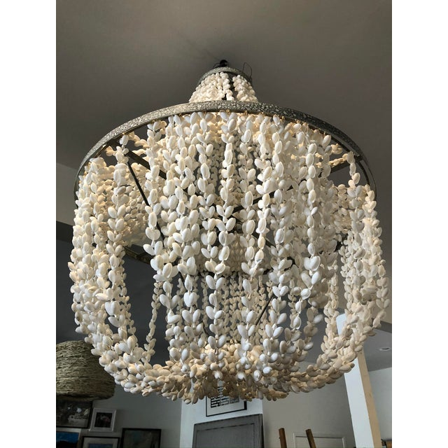 Made Goods Made Goods Empire White Shell Chandelier For Sale - Image 4 of 6