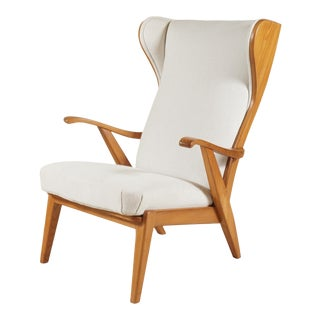 1960s Danish Wingback Chair by Søren Willadsen For Sale