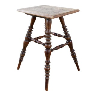 Rustic American Wooden Stool or Drinks Table For Sale
