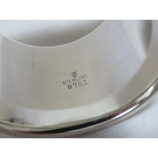 Towle Silversmiths 1937 Vintage Towle Silversmiths Sterling Silver Napkin Ring For Sale - Image 4 of 6