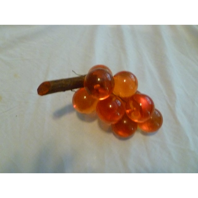 Vintage Deep Color Lucite & Driftwood Grapes - Image 3 of 8