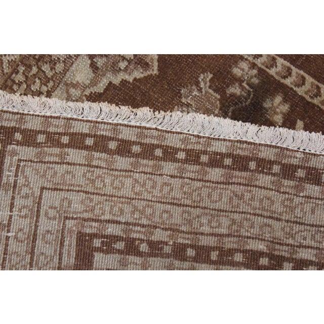 "Vintage Handmade Agra Rug-4'6'x6"" For Sale - Image 4 of 5"