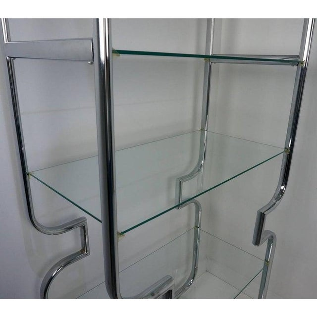 Mid-Century Modern Polished Chrome and Glass Etageres - a Pair For Sale - Image 9 of 11
