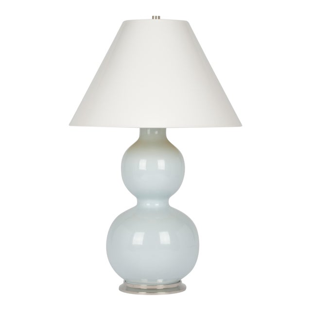 Natalie Lamp in Powder Blue / Polished Nickel - Christopher Spitzmiller for The Lacquer Company For Sale