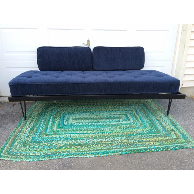 1950s Restored Mid-Century Daybed in Indigo For Sale - Image 5 of 10