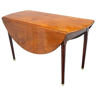 19th Century Antique French Mahogany Drop-Leaf Table For Sale