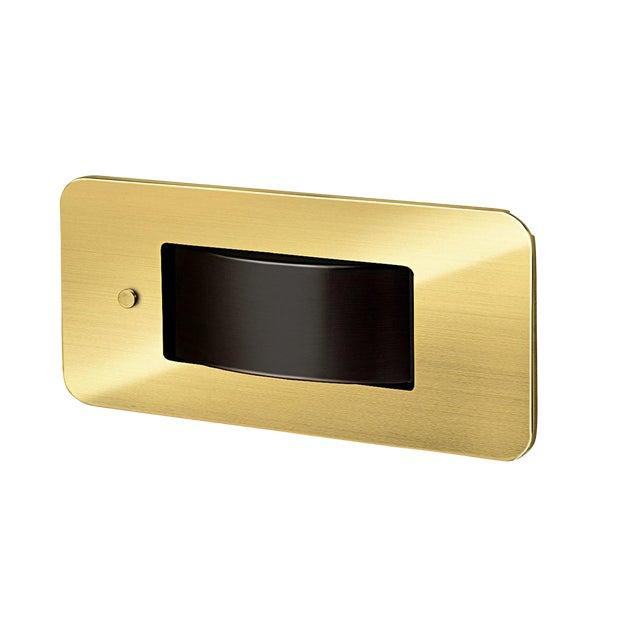 Led Revolution Brushed Brass Bedside Wall Light For Sale