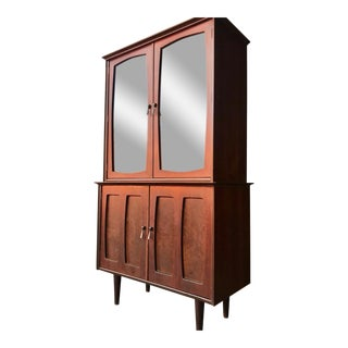 Mid-Century Modern China Cabinet Hutch For Sale