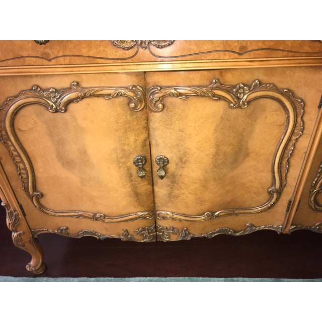 Beautifully preserved Buffet Table/Cabinet with drawers for silver storage, linens, china sets and more. Intricate...