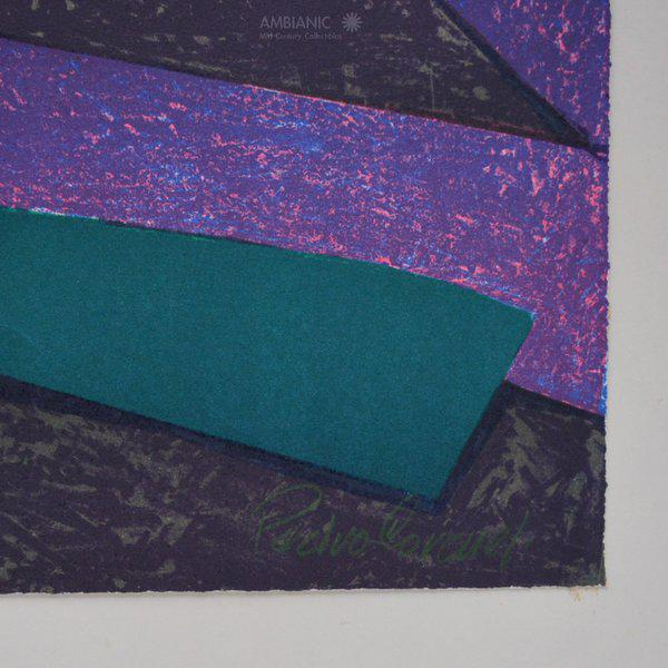 Abstract Pedro Coronel Lithography 85/100 For Sale - Image 3 of 6