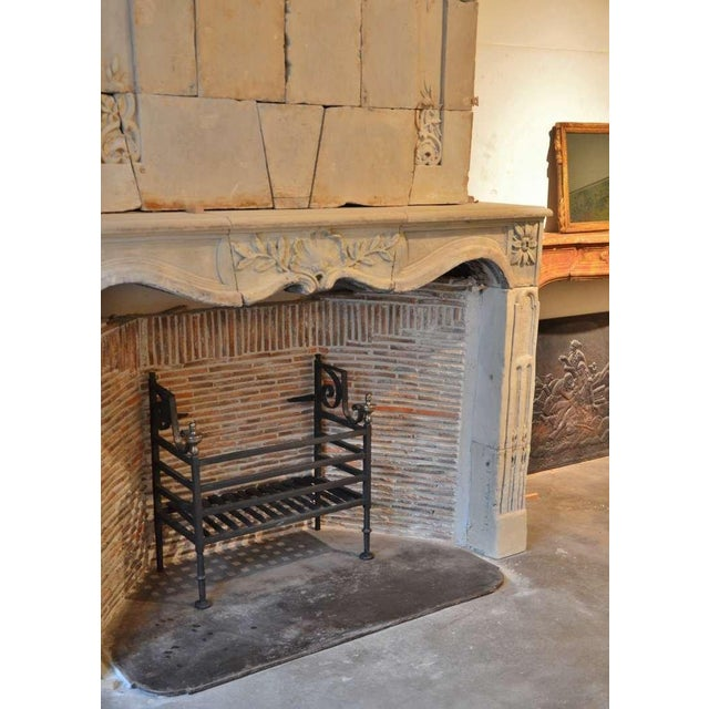 Black 17th Century Dutch Iron Fire Grate For Sale - Image 8 of 10