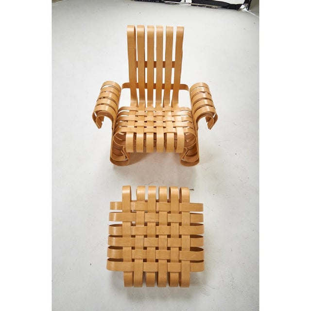 2000 - 2009 Frank Gehry for Knoll Studio Power Play Chair and Ottoman For Sale - Image 5 of 6