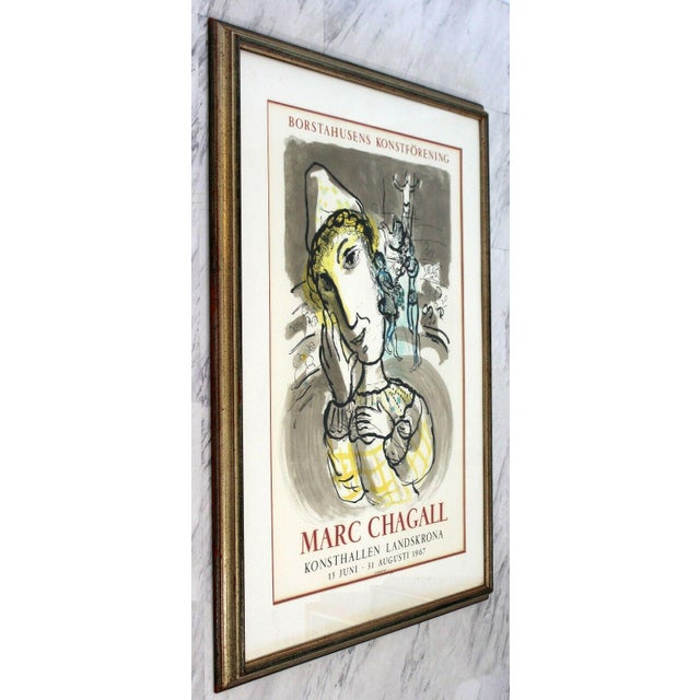 Marc Chagall Mid Century Modern Vintage Framed Marc Chagall Poster Lithograph 1967 For Sale - Image 4 of 9