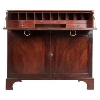 19th Century Dutch Mahogany Drop-Front Secretary Desk For Sale