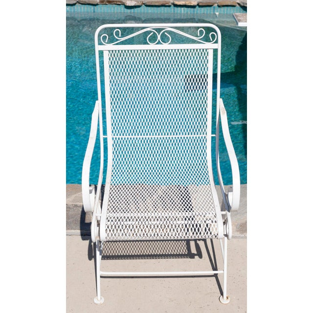 Vintage Patio Mesh Table & Bouncer Chairs - S/5 - Image 3 of 7