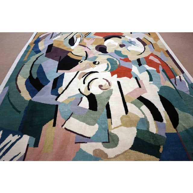 Silk Boccara Artistic Rug – Albert Gleizes – Design N.39 For Sale - Image 7 of 9