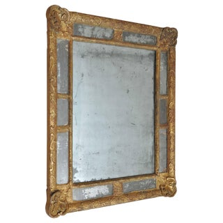 18th Century Classic French Giltwood Mirror For Sale