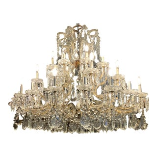 Superb Antique Maria Theresa 32 Lite Austrian Crystal Chandelier For Sale