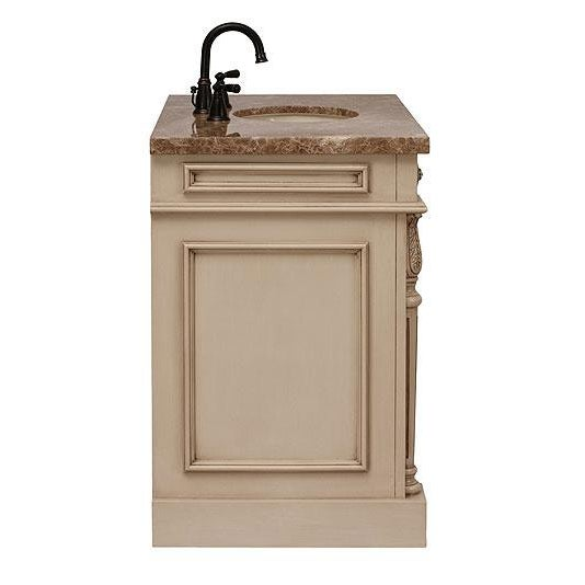 Classico Beige Bath Vanity with Cabinet - Image 5 of 6