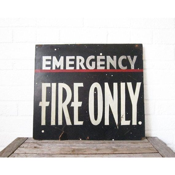 Vintage Emergency Fire Exit Sign - Image 2 of 6