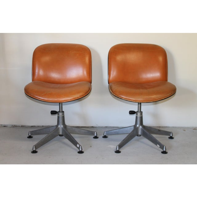 Pair Italian ultra modern Ico Parisi Lounge Chairs. Perfect for the study room.