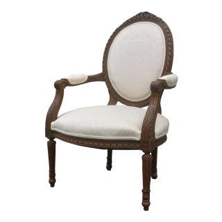 French Style Chair With Oval Back