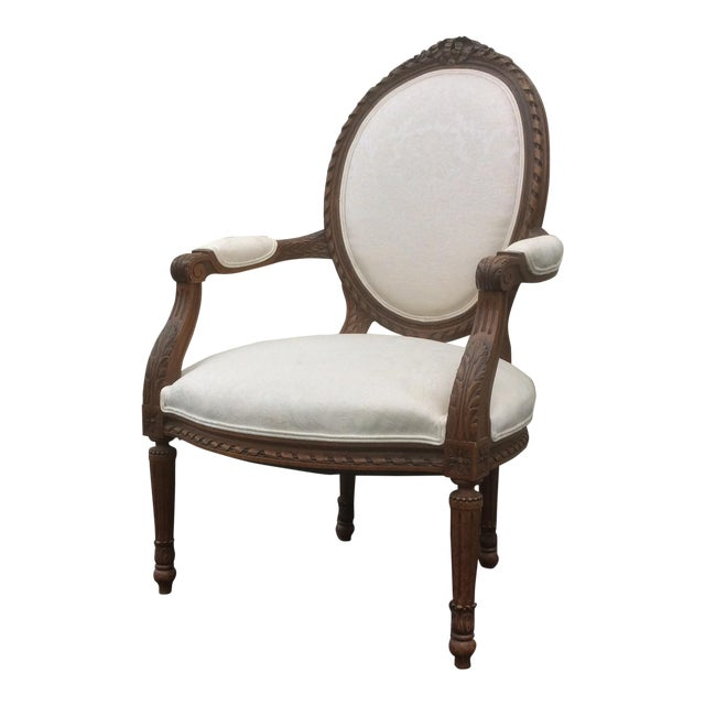 French Style Chair With Oval Back For Sale