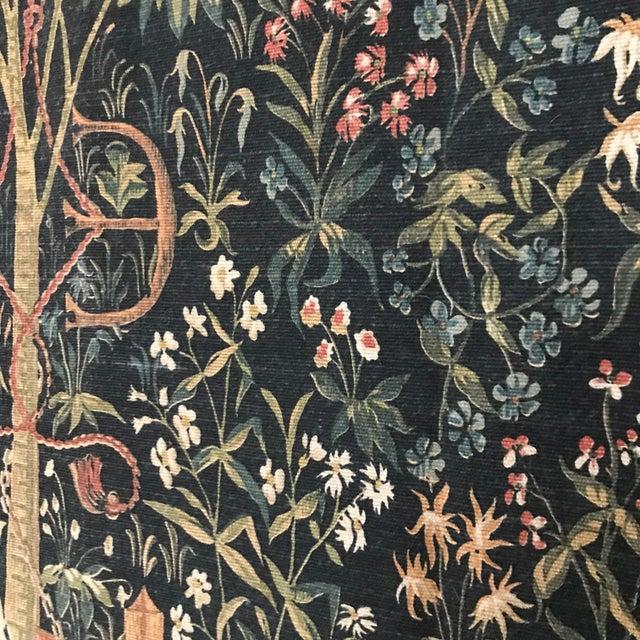 Green 1970s Vintage Jp Paris Panneaux Gobelins Tapestry For Sale - Image 8 of 10