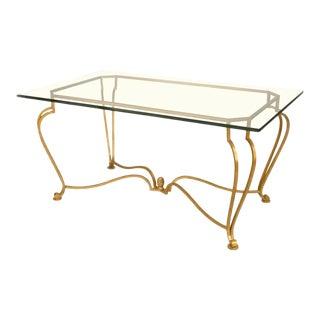 American Post-War Gilt Center Table For Sale