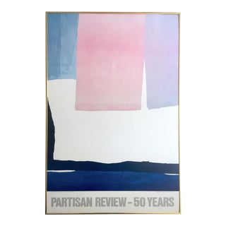 "Helen Frankenthaler Rare Vintage 1984 Abstract Expressionist Lithograph Print Framed Partisan Review Poster "" the Human Edge "" 1967 For Sale"