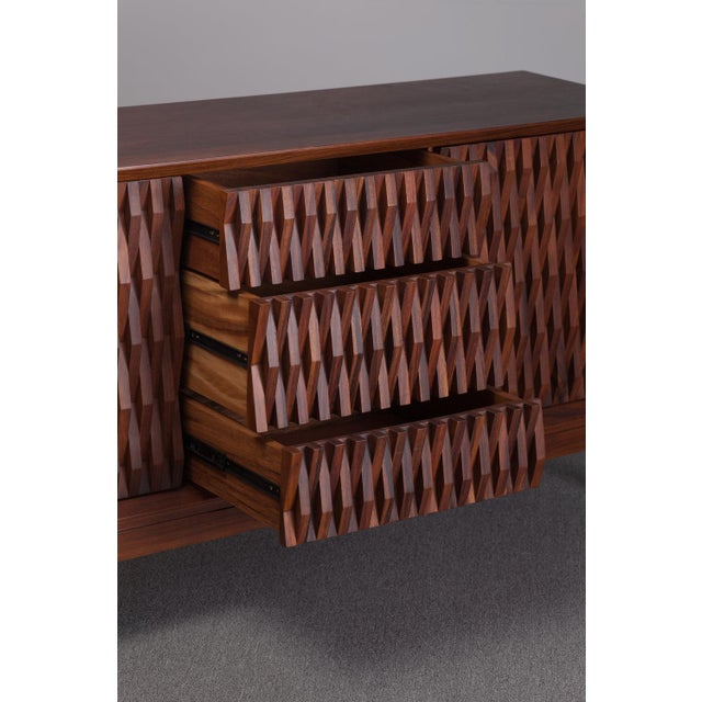 Ebb and Flow Ebb and Flow Pattern Credenza For Sale - Image 4 of 5