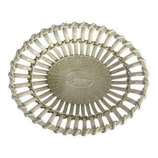 19th-C. Creamware Basket For Sale