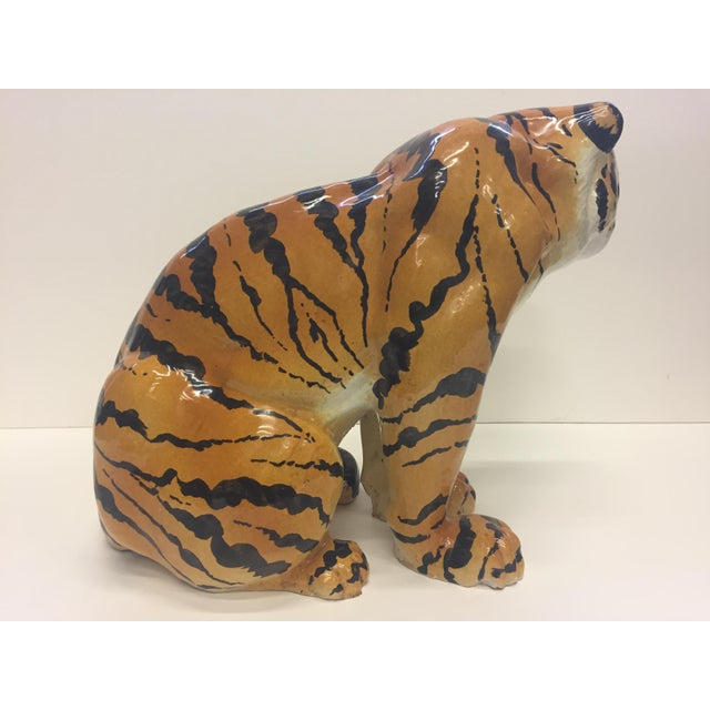Italian Terracotta Seated Tiger Sculpture For Sale In Philadelphia - Image 6 of 11