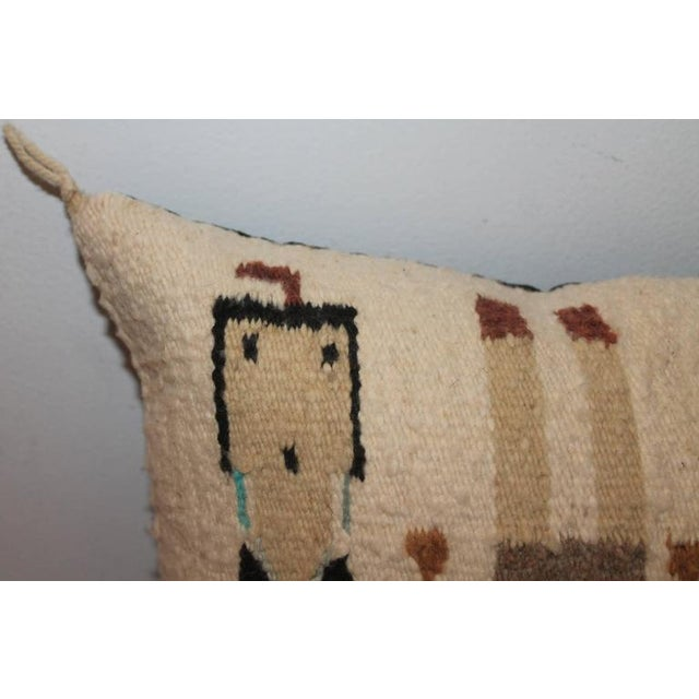 Native American Yea Navajo Indian Weaving Pillow For Sale - Image 3 of 6