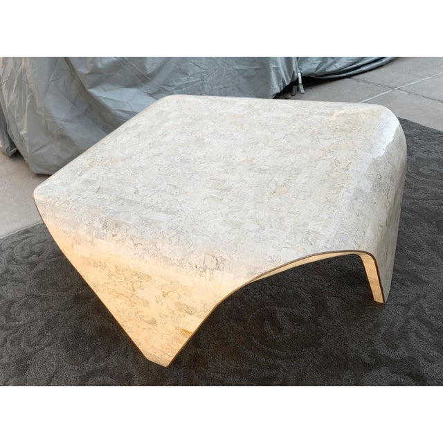 1970s Vintage Sculptured Tesselated Stone Coffee Table by Maitland-Smith For Sale - Image 9 of 9