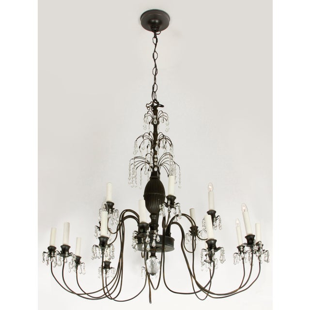 Hollywood Regency Style Chandelier - Image 3 of 3