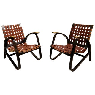 Pair of Bentwood Armchairs by Jan Vanek for Up Závody, 1930s For Sale