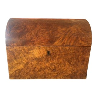 English Early 19th Century Domed Tea Caddy Box For Sale