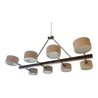 1958 Mid-Century Modern Grand Scaled Eight Light Chandelier, Italy For Sale