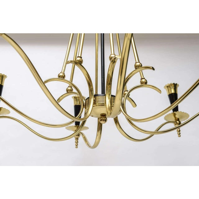 1970s Italian Brass 8 Arm Chandelier For Sale - Image 5 of 9