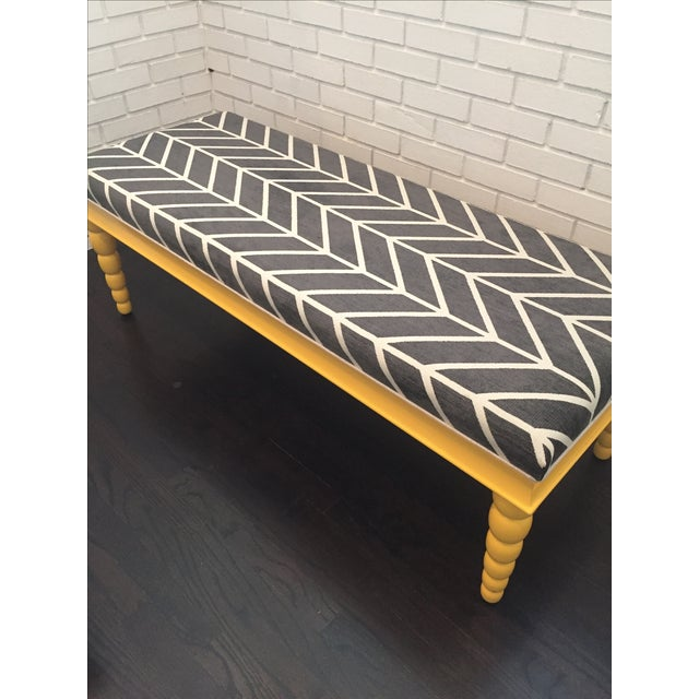 Century Furniture Lacquered Bench For Sale In Charlotte - Image 6 of 7