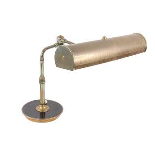 Vintage 1950s Modern Industrial Copper Brass Articulating Bankers Lawyer Lamp Light For Sale