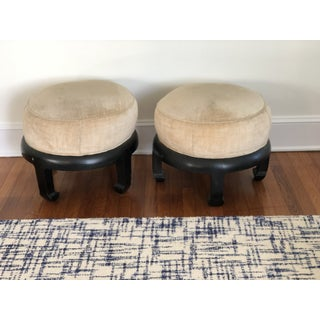 Vintage Chinoiserie Ottomans Bill Meyer Lamps Inc- a Pair Preview