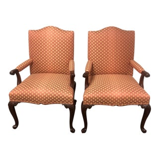 George III Gainborough Reproduction Chairs - a Pair