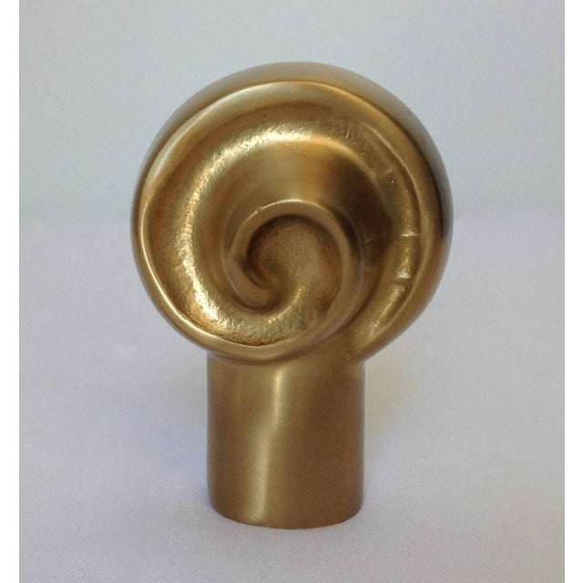 Belle Epoque German Custom Brushed Bronze Infinity Swirl Finial For Sale - Image 3 of 8