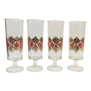 Vintage 1960s Aperitif Glasses - Set of 4 For Sale