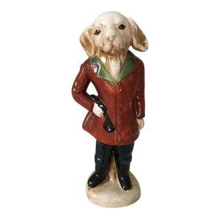 Majolica Gentleman Rabbit Equestrian Figure For Sale