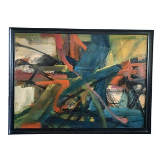 Plafson Mid-Century Modern Abstract Painting For Sale