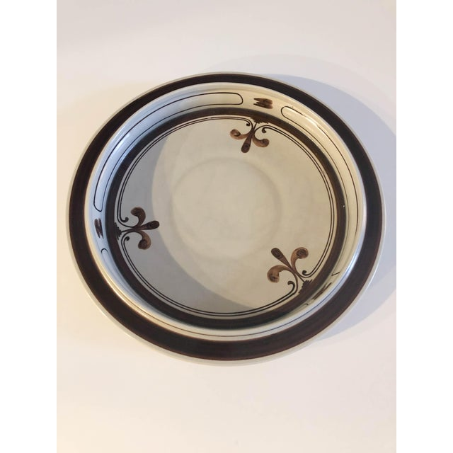 1970s Rosenthal Stoneware Pottery Platter Plate Continental Siena Bjorn Wiinblad For Sale - Image 5 of 5